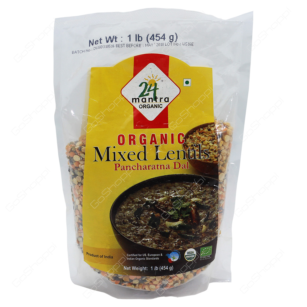 24 Mantra Organic Mixed Lentils 454g