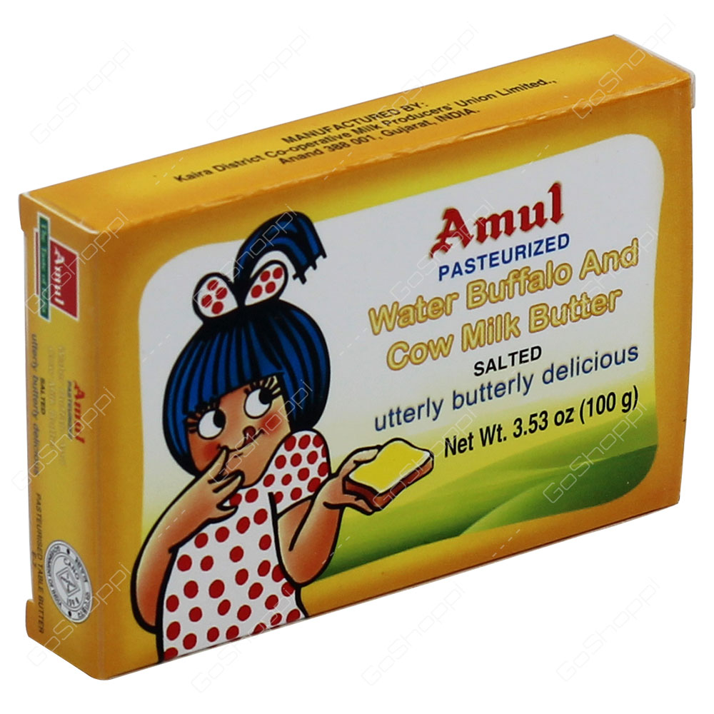 Amul Water Buffalo and Cow Milk Butter Salted 100g