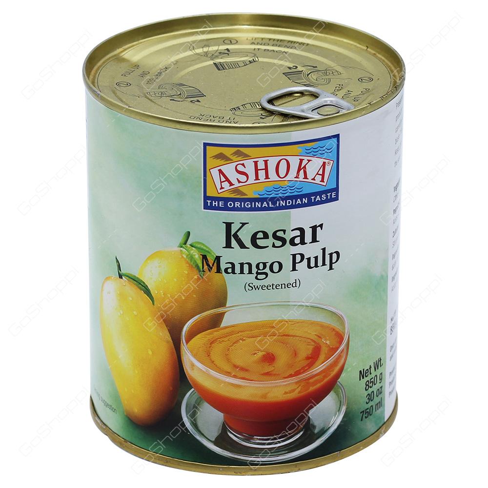 Ashoka Kesar Mango Pulp Sweetened 850g