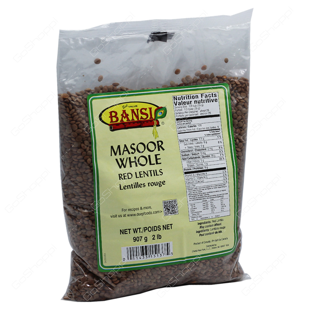 Bansi Masoor Whole 2lb
