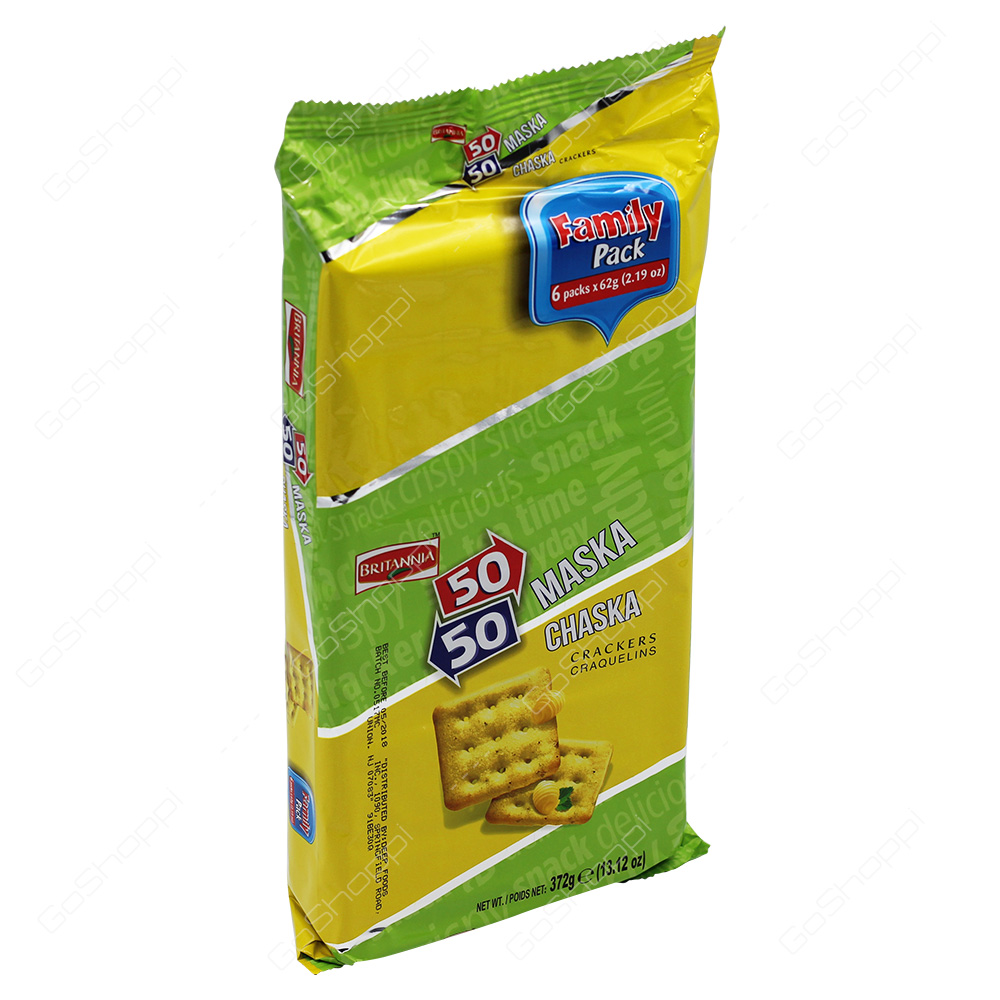 Britannia 50-50 Maska Chaska Crackers Family Pack 372g