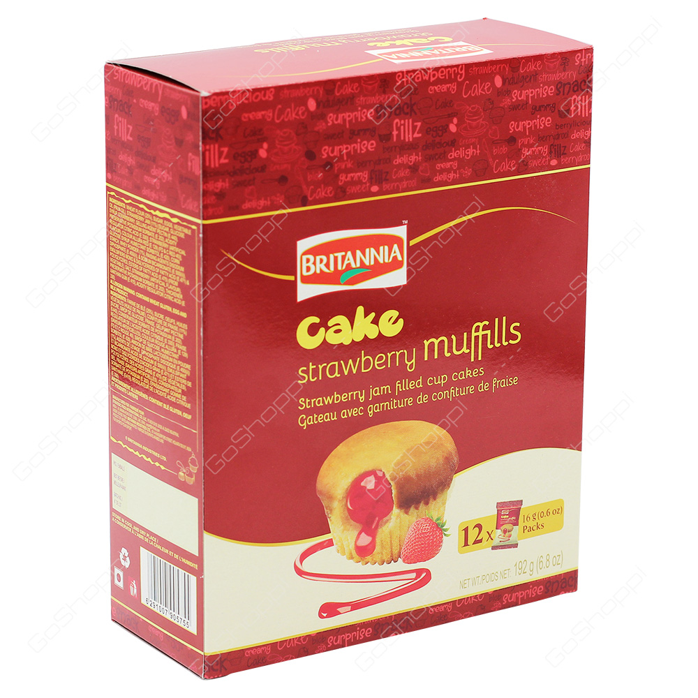 Britannia Cake Strawberry Muffills 192g