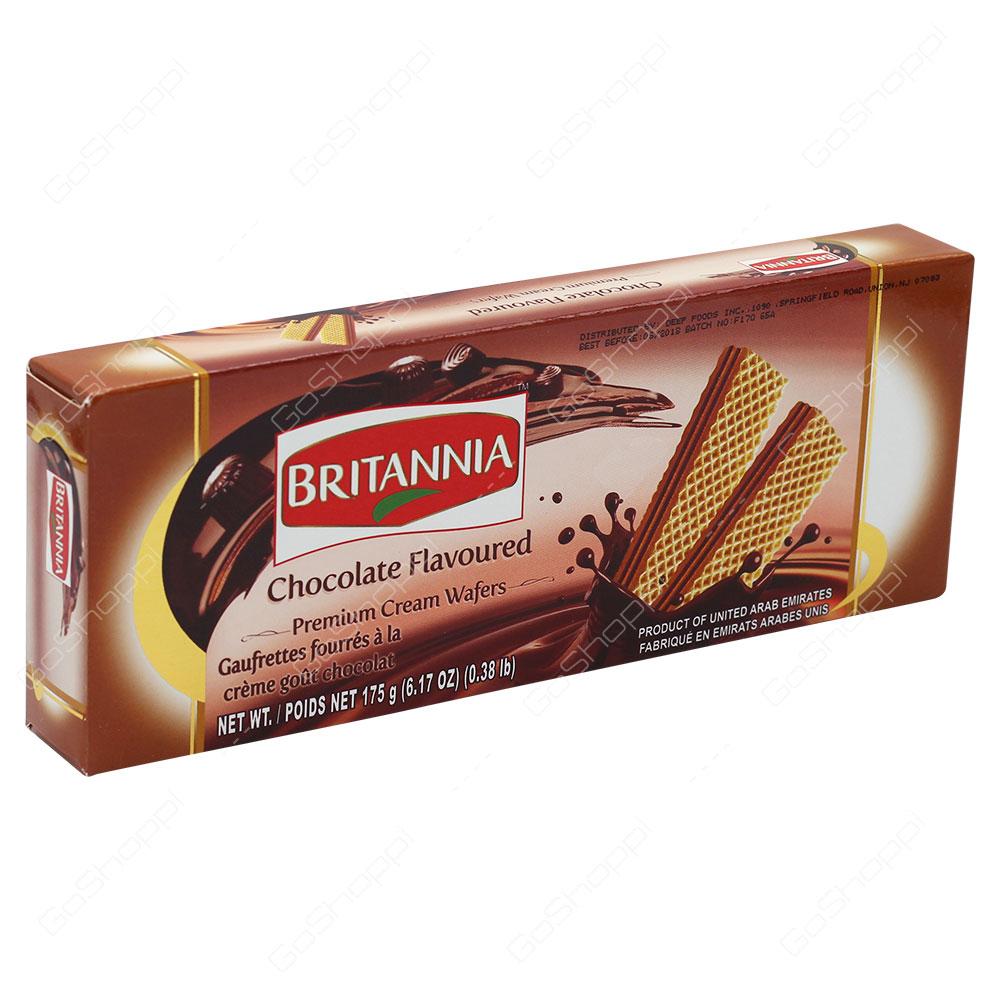Britannia Chocolate Flavoured Premium Cream Wafers 175g