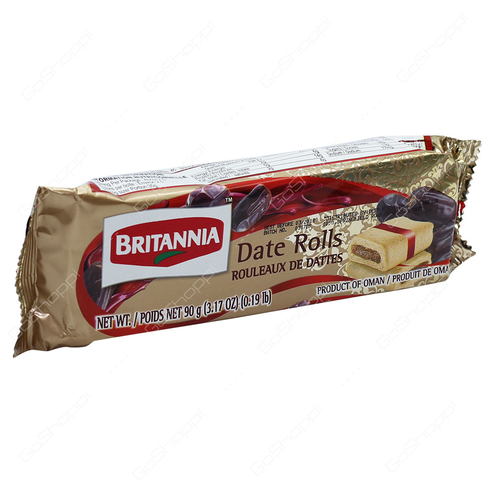Britannia Date Rolls 90g