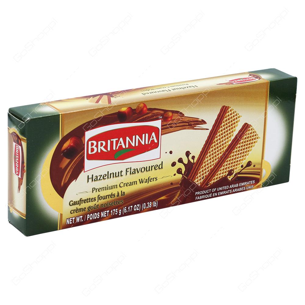 Britannia Hazelnut Flavoured Premium Cream Wafers 175g