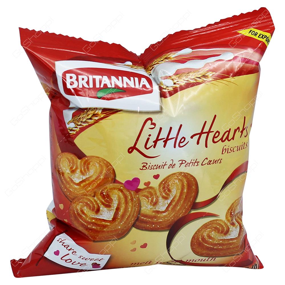 Britannia Little Hearts Biscuits 75g
