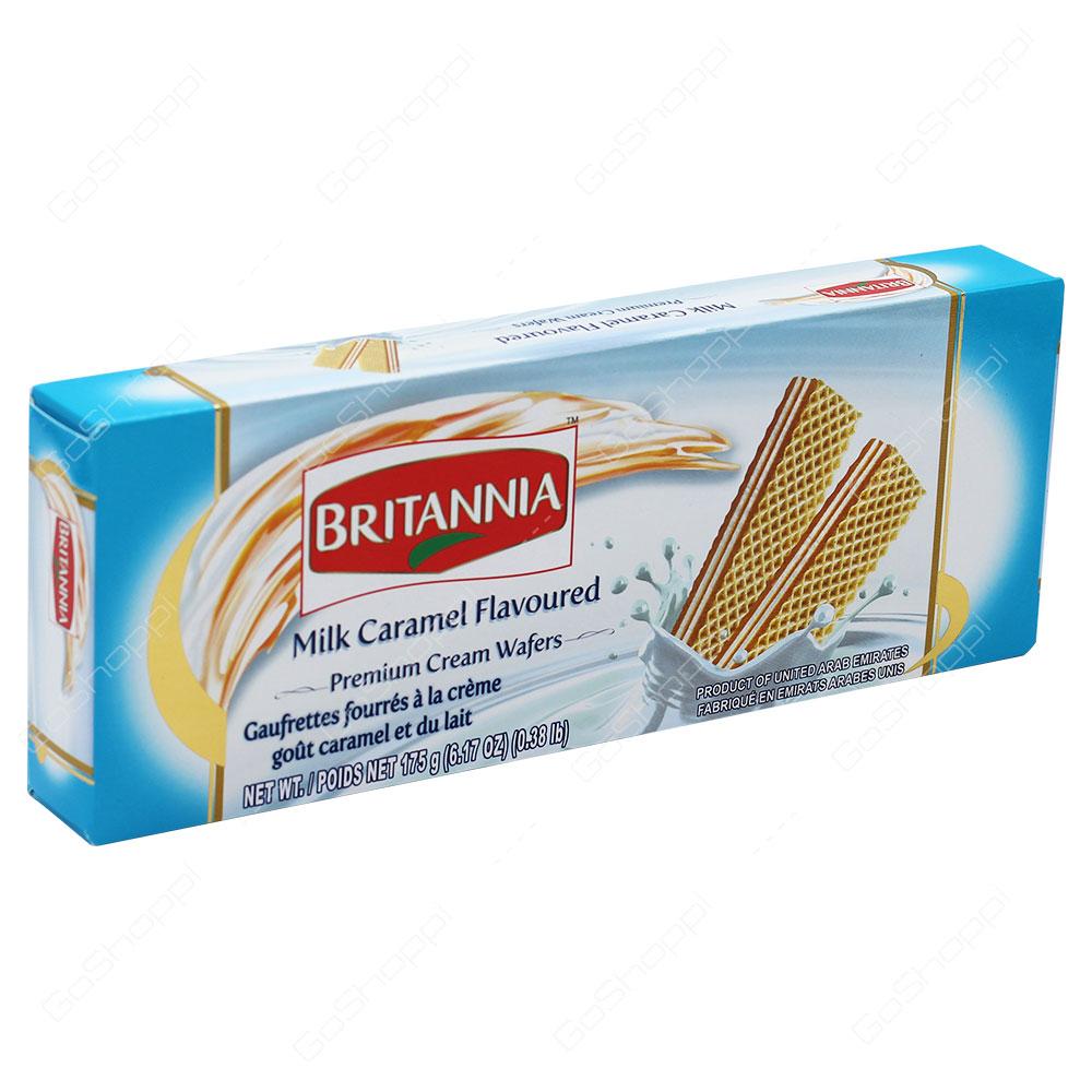 Britannia Milk Caramel Flavoured Premium Cream Wafers 175g