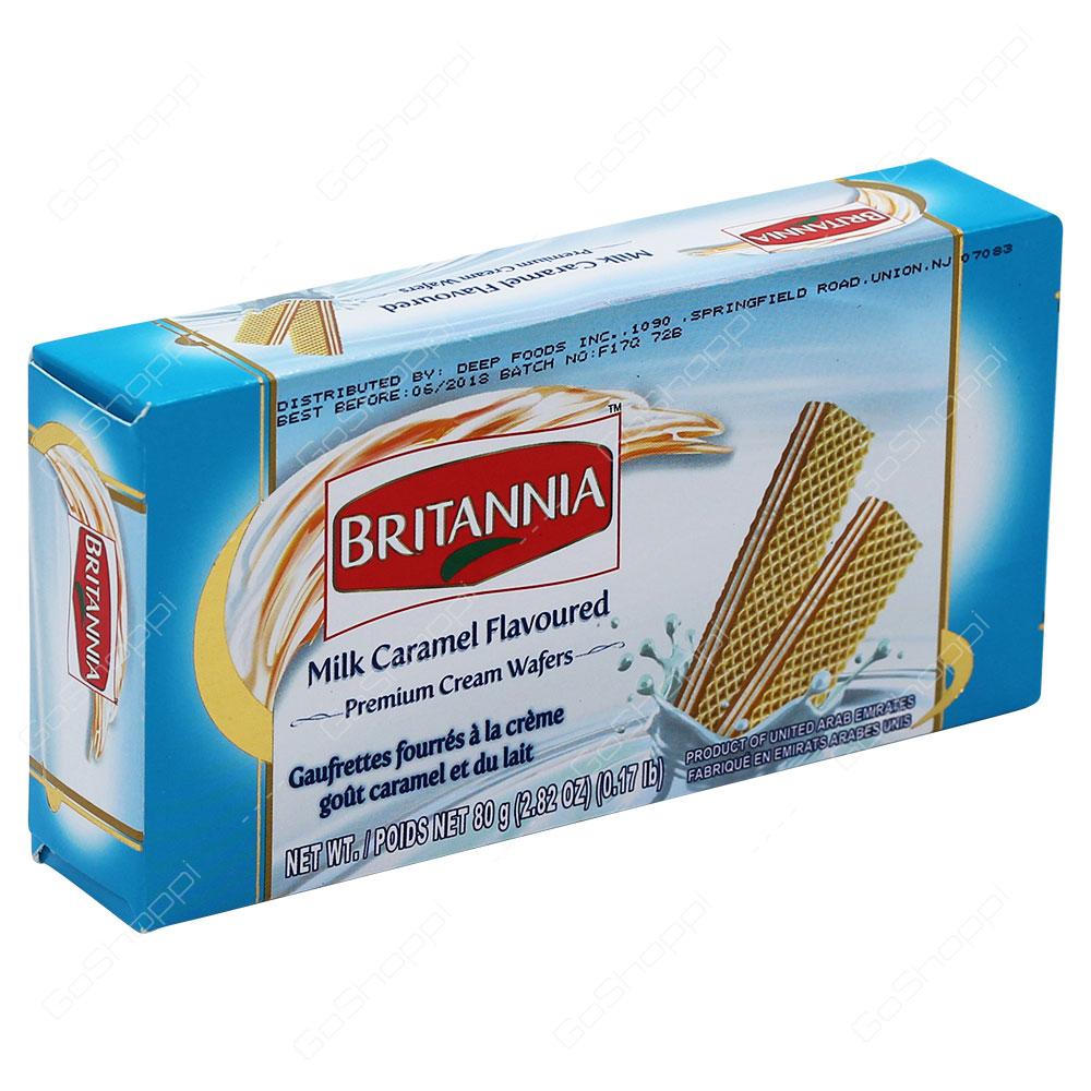 Britannia Milk Caramel Flavoured Premium Cream Wafers 80g