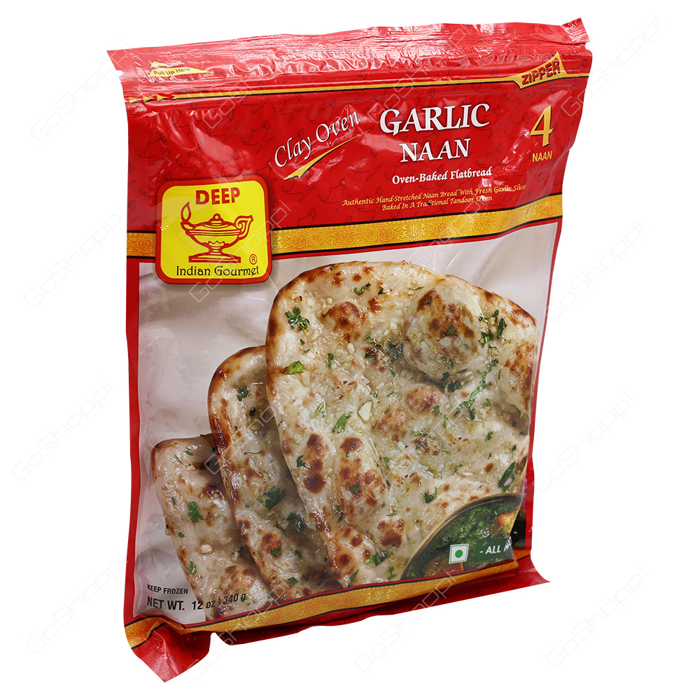 Deep Garlic Naan 4Pieces 340g