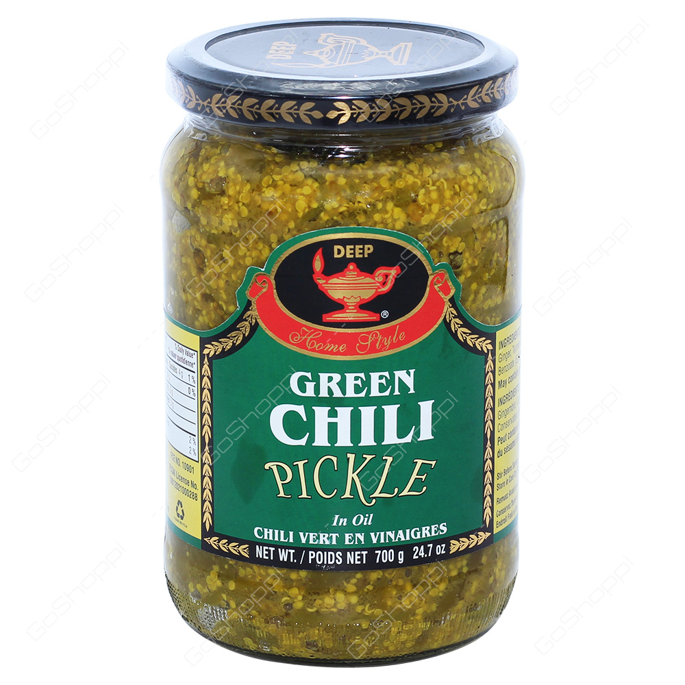 Deep Green Chlli Pickle in Oil 700g