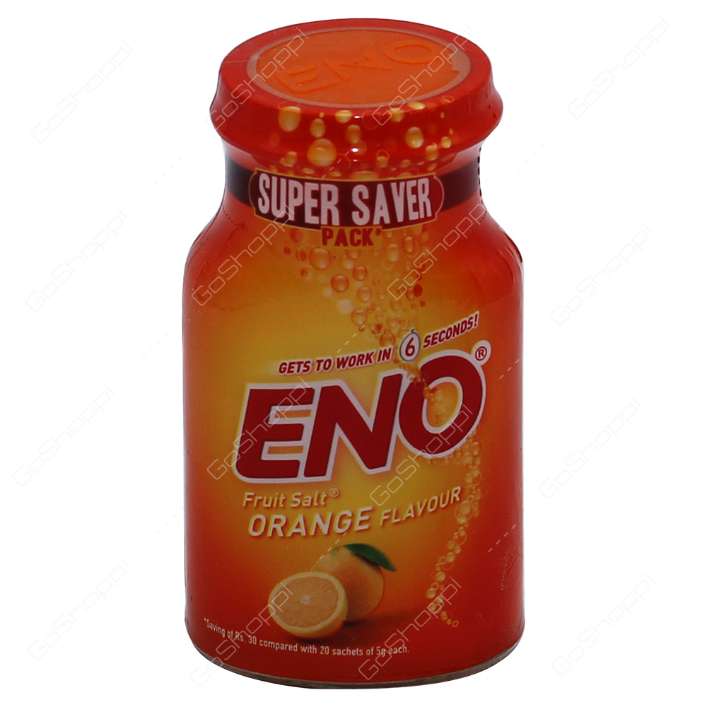 Eno Fruit Salt Orange Flavour 100g