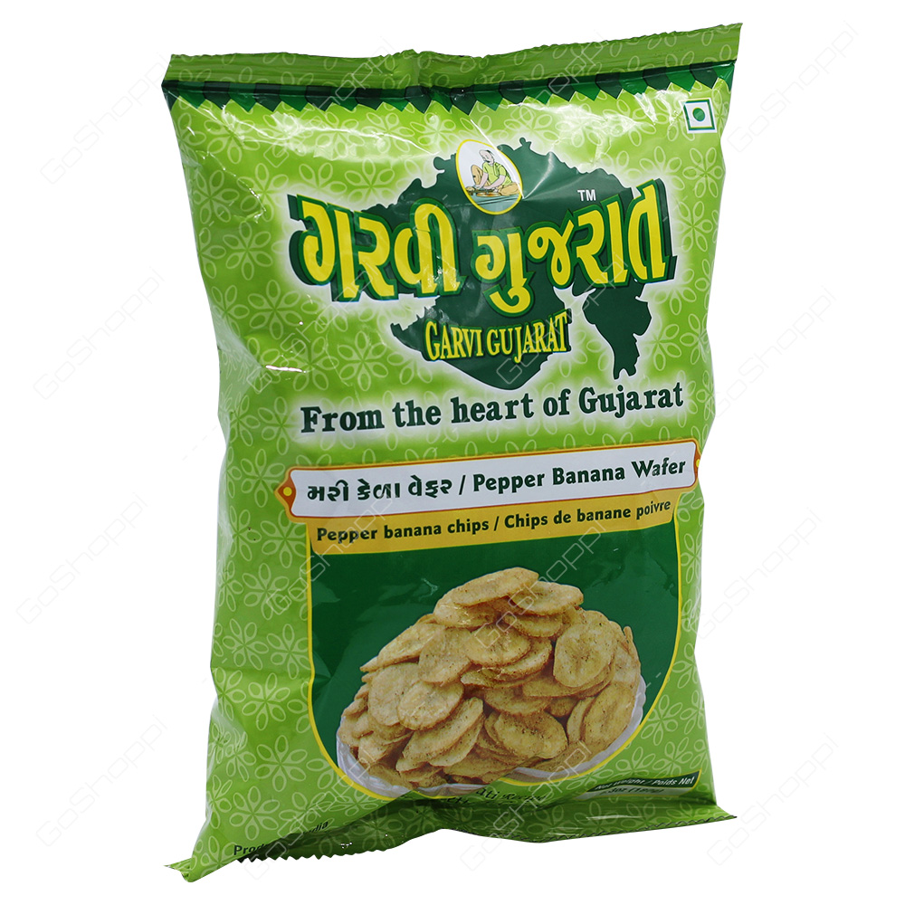 Garvi Gujarat Pepper Banana Wafer 180g