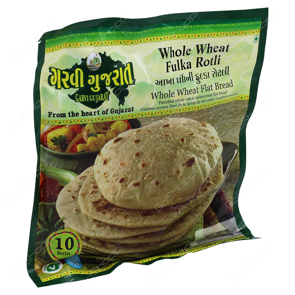 Garvi Gujarat Whole Wheat Fulka Rotli 10Pieces 350g