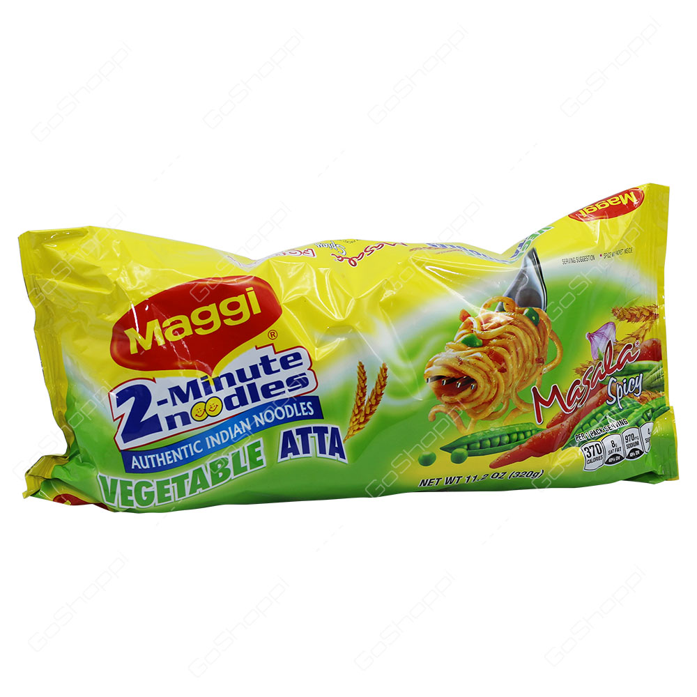 Maggi 2-Minute Noodles Vegetable Atta 320g