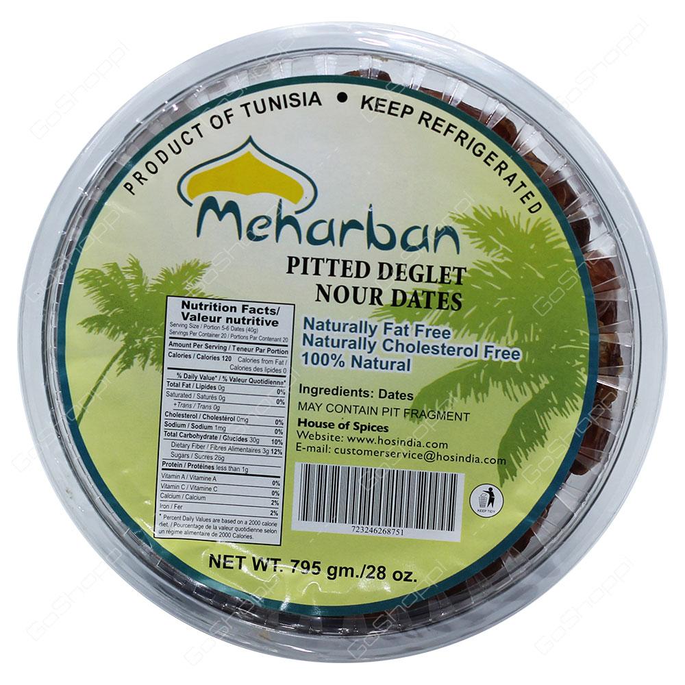 Meharban Pitted Deglet Nour Dates 795g
