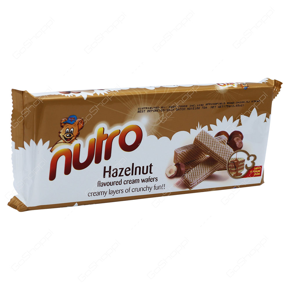 Nutro Hazelnut Flavoured Cream Wafers 75g