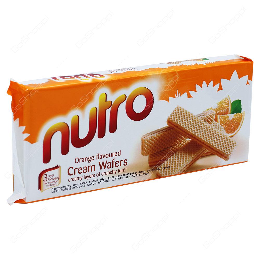 Nutro Orange Flavoured Cream Wafers 150g