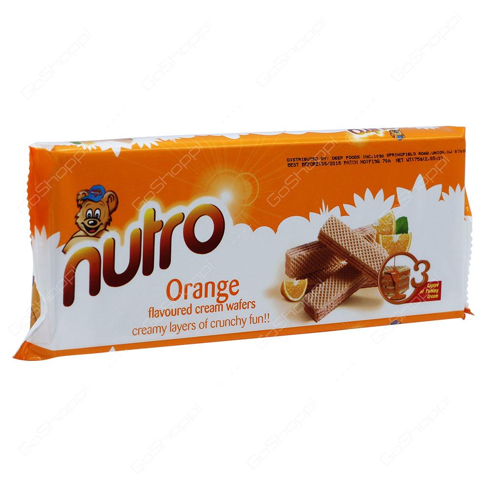 Nutro Orange Flavoured Cream Wafers 75g