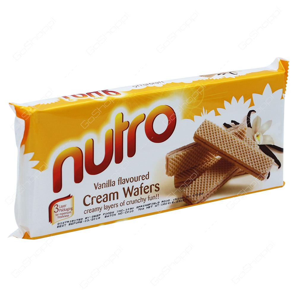 Nutro Vanilla Flavoured Cream Wafers 150g