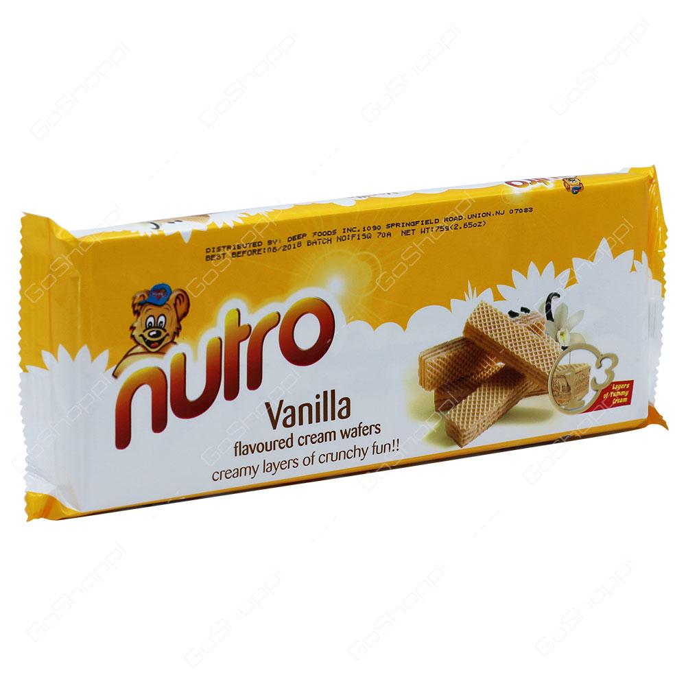 Nutro Vanilla Flavoured Cream Wafers 75g