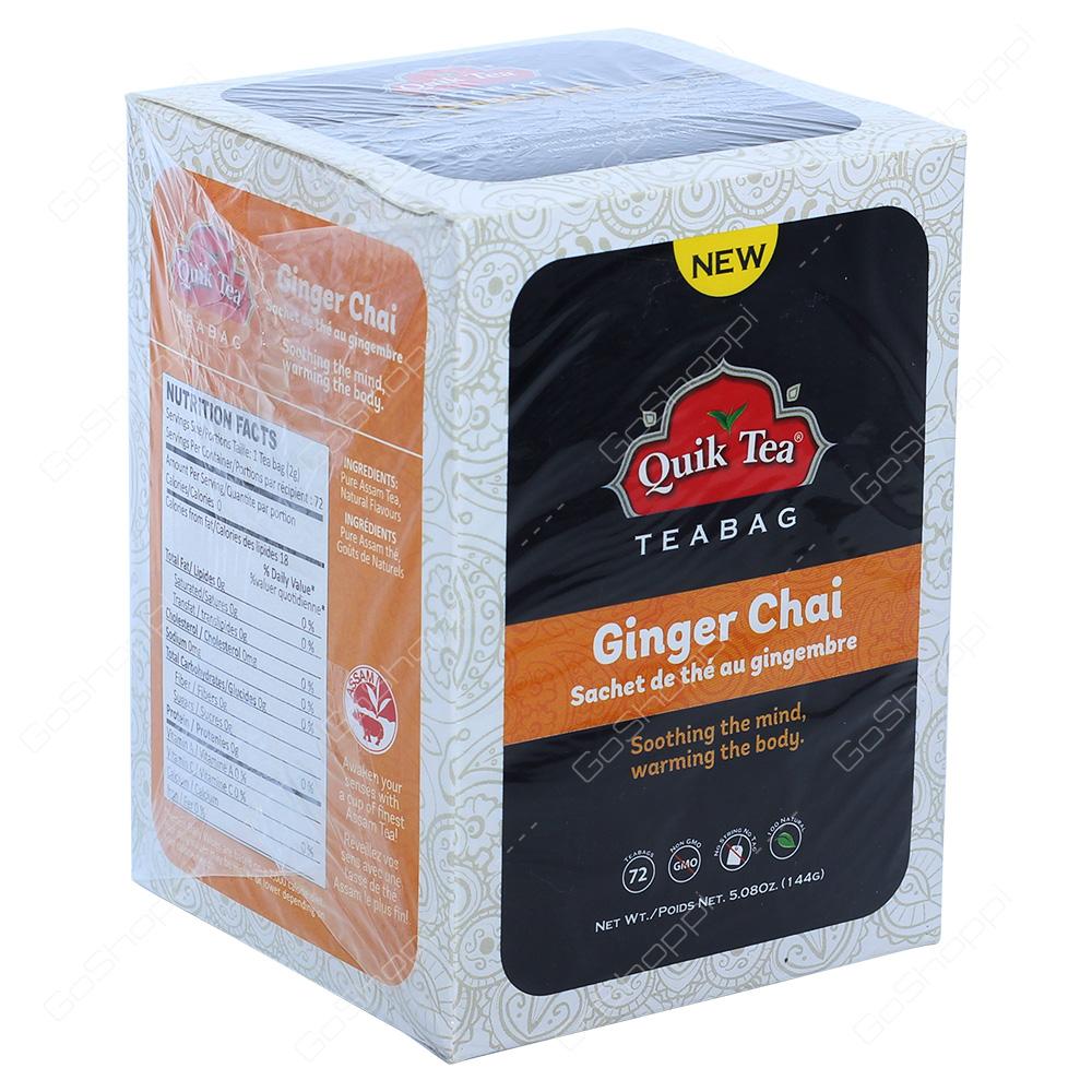Quik Tea Ginger Chai Tea Bags 72Bags