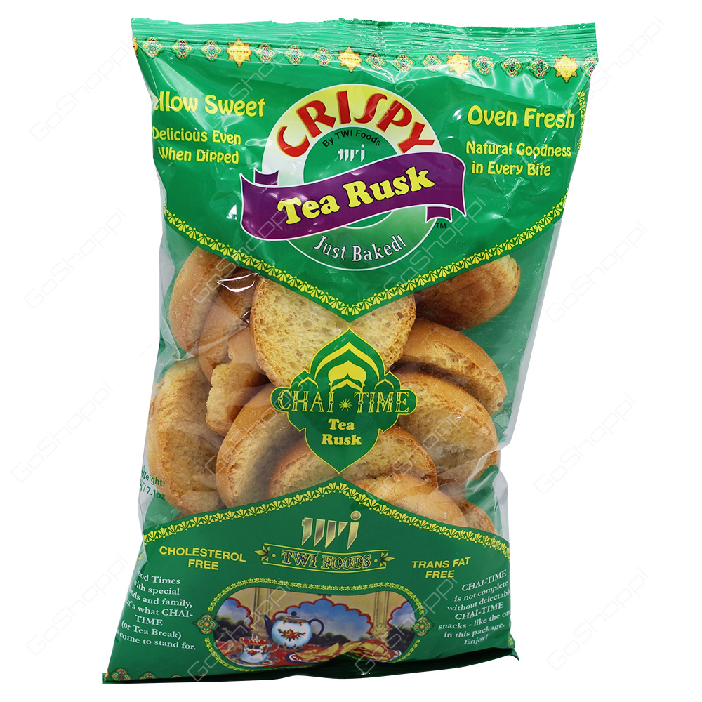TWI Foods Crispy Chai Time Tea Rusk Mellow Sweet 200g
