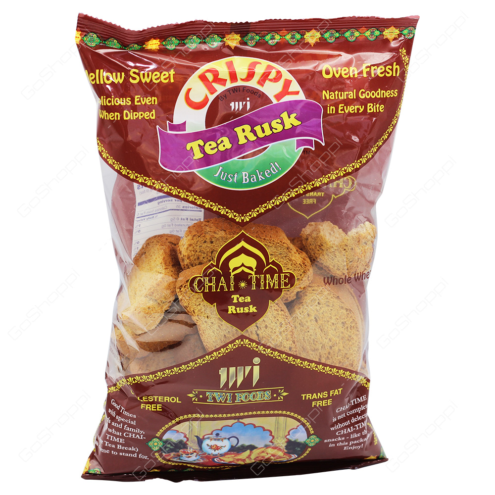 TWI Foods Crispy Chai Time Tea Rusk Whole Wheat 200g