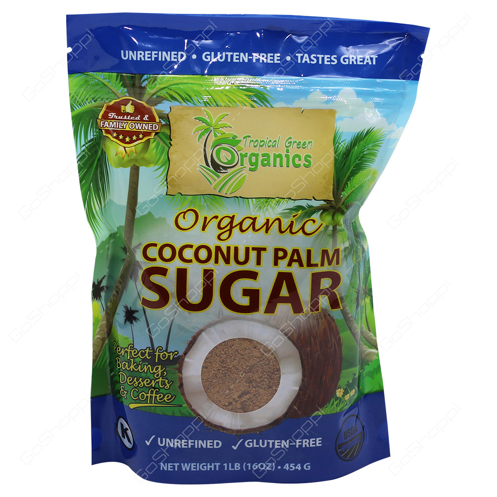 Tropical Green Organics Organic Coconut Palm Sugar 454g