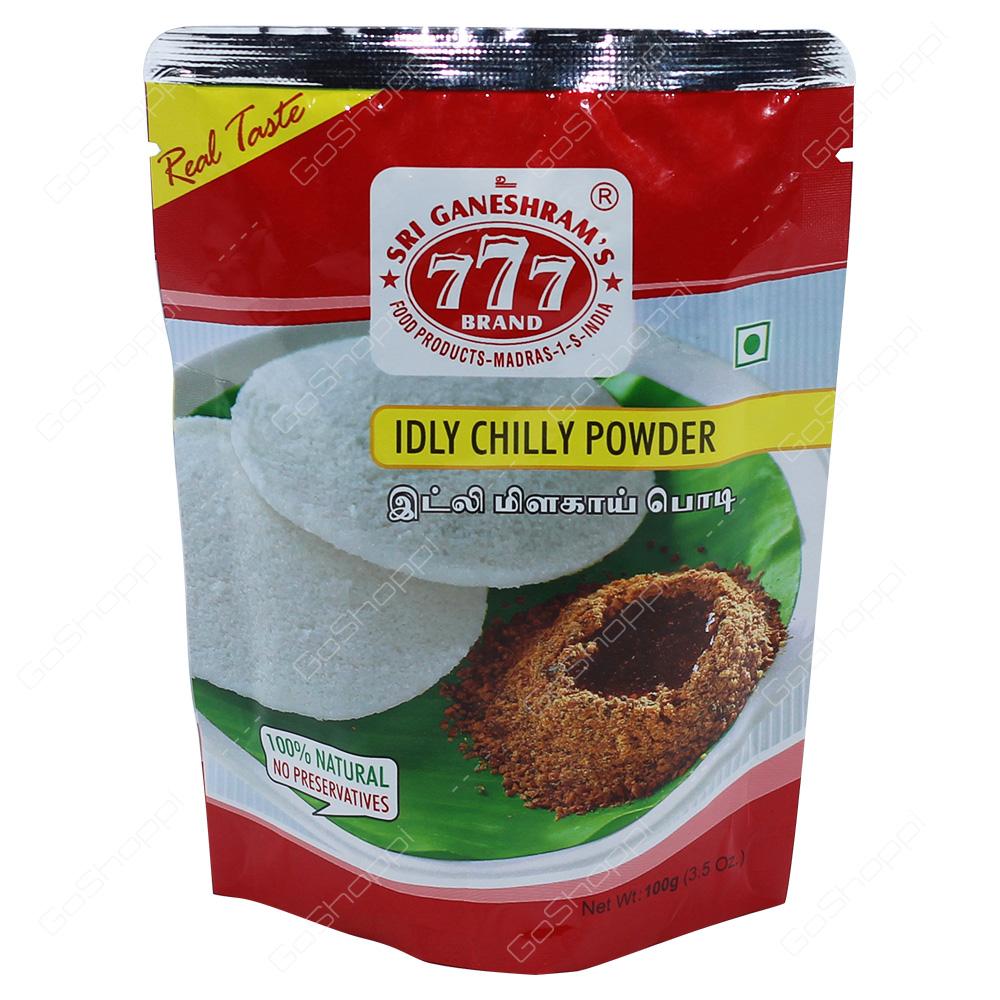 777 Brand Idly Chilly Powder 100g
