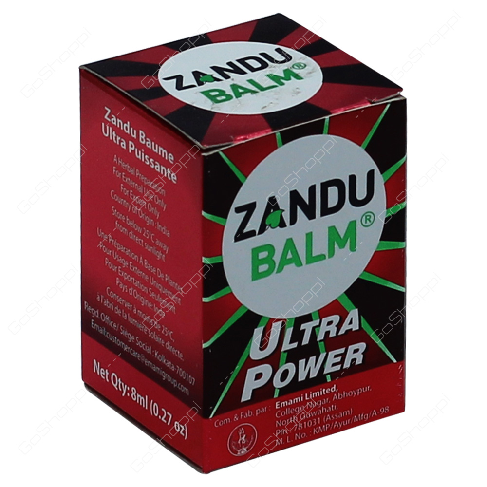 Zandu Balm Ultra Power 8ml